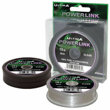 New Carp Line 12lb Ultima PowerLink Pure Fluorocarbon Weed Green Hook Link