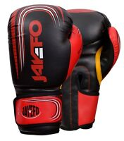 Jayefo Leather boxing gloves Gel MMA Muay thai Kick sparring gloves RED