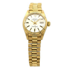 Lady's Rolex Datejust Presidential 18k Yellow Gold w/ Silver Dial 6917