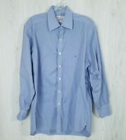 Turnbull & Asser Mens Size 16 Plaid Dress Shirt 3-Button Cuff