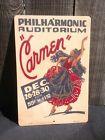 Carmen Philharmonic Auditorium Opera Works Progress Admin Wpa Art Sign
