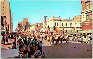 "Fort Worth, Texas Postcard ""SOUTHWESTERN FAT STOCK SHOW"" Parade Scene 1963"