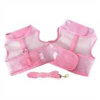 NEW Cool Mesh Dog Harness Leash Doggie Design (Choose Size Size and Color)