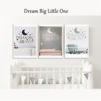 """Saying """"Dream Big Little One"""" DIY Wall Sticker Decal Quote Nursery Bedroom Decor"""