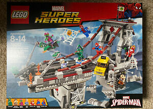 LEGO SUPERHEROES MARVEL SPIDERMAN WEB WARRIOS ULTIMATE BRIDGE BATTLE 76057 NEW