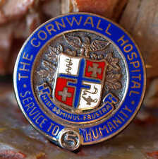 VINTAGE ENAMELED STERLING SILVER CORNWALL NEW YORK HOSPITAL 5 YEAR PIN