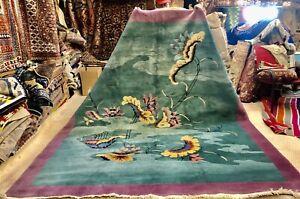 Auth:: Antique Art Deco Nichols Chinese Rug Spectacular Collectors Master Piece