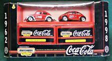 1962 & 1998 Concept VW BEETLE COCA-COLA Set of 2 Cars 1:64 Scale MIB