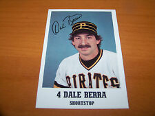 PITTSBURGH PIRATES DALE BERRA 1984 TEAM ISSUED CARD