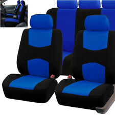 9Pcs Blue Car Seat Covers Protectors Universal Washable Auto Front Rear Full Set