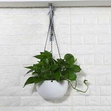 Round Plastic Flower Pot Chain Hanging Planter Basket Home Garden Balcony Decor