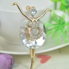 TR Ballerina Girl Keyring Rhinestone Crystal Charm Pendant Key Bag Chain Gift