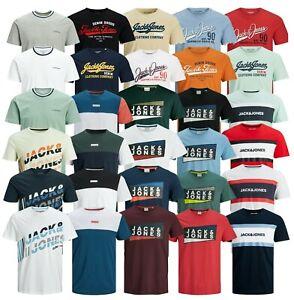 Mens T-shirt Jack Jones Branded Short Sleeve Crew Neck Casual Top Tee Size S-XXL