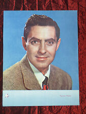 """TYRONE POWER -  FILM STAR - 1 PAGE PICTURE -"""" CLIPPING / CUTTING""""- #2"""