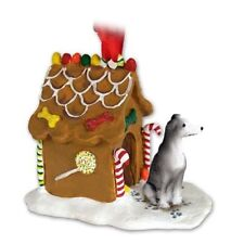 Greyhound Gray Dog Ginger Bread House Christmas ORNAMENT