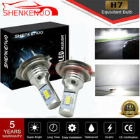 2x 55W H7 LED Motorrad ATV Scheinwerfer Birnen 6500K Weiß 8000LM Lampen Leuchte