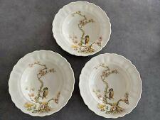 Grindley England Marlborough Kingfisher Bird & Flowers 3 x Pasta or Soup Bowls