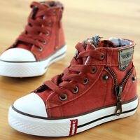 Kids High Top Casual Canvas Shoes Girl Boys Children Sneakers Breathable walking