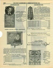 1932 PAPER AD 3 PG Hotz Hohner Store Display Harmonica Lighted Sign Revolving