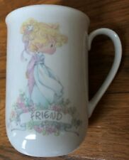 "1990 Precious Moments ""Friend"" Cup/Mug Samuel Butcher Enesco Corp Euc"