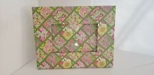 Lilly Pulitzer Picture Frame Pink Green Koala Floral Pattern,  holds a 3.5 x 5
