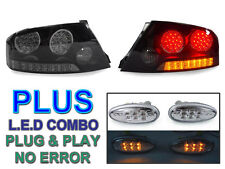 USA 03-06 MITSUBISHI LANCER EVO 8/9 SMOKE LED TAIL LIGHTS +CLEAR LED SIDE MARKER