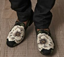 Alexander McQueen Men's Cross-Stitch Flower Loafers size 41 $795