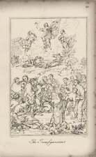 1835 inciso opere d'arte La Trasfigurazione ~ compositive/Raphael