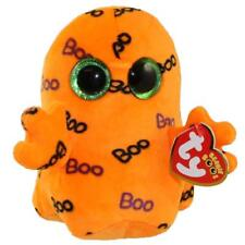 "Ty Halloween Beanie Boos 6"" Ghoulie Orange Ghost Plush Stuffed Animal Toy Mwmts"