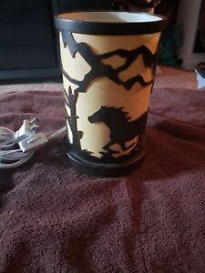 Horse Night Light Lamp Metal &  tan bronzon
