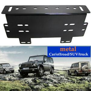 Car SUV Front Bumper License Plate Mount Bracket Holder For Lamp/LED Light Bar