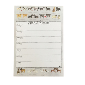 Alex Clark 'Delightful Dogs' Weekly Planner A4 Family / Work Organiser 60 Sheets