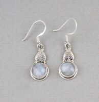 Rainbow Moonstone 925 Sterling Silver Earrings Jewelry
