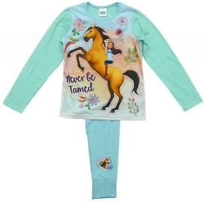Girls Spirit Riding Free Pyjamas Kids Long Sleeve Nightwear PJs Cotton Pink