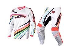 2016 JT Flow White Youth Motocross Mx Kit 26W Pant Large Jersey