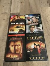 Action Dvd's The Island, 15 Minutes, Enemy At the Gates, Jet Li Hero