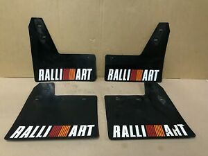 MITSUBISHI EVOLUTION VI 4 V 5 VI 6 VII 7 VIII 8 IX 9 SET OF RALLIART MUDFLAPS