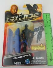 "Snake Eyes GI Joe Retaliation 2011 New In Pack 3.75"" Figure Hasbro Zip Line"
