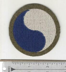 WW 2 US Army 29th Infantry Division Black Back Wool Patch Inv# N184