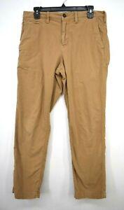 American Eagle Men Beige Straight Leg Next Level Flex Casual Denim Pants 30 X 30