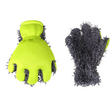 Car Wash Mitt Microfiber Cleaning Glove Car Motorbike Washing Drying Towels US