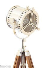 1940's OLD HOLLYWOOD TRIPOD FLOOR LAMP - Antique, Nautical, Art Deco