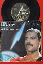 """FREDDIE MERCURY TIME 1986 UK RARE PROMO 7""""PS QUEEN"""