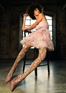 Trasparenze Sensitivity 50 Denier Tights Black Or Cosmetic Leg - Bold Florals