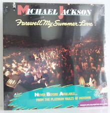 LP Michael Jackson Farewell my summer Love Motown US 1984 + Poster still sealed