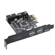 STW PCI-E A USB3.0 Scheda PCI Express PCI-E a 2 Porte Mini Adattatore 4 Pin T4Q4