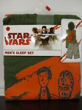 Star Wars Mens 2-Piece Sleeveless Shirt w/ Hood & Shorts Pajama Sleep Set  Small