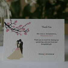 50 Blossom Silhouette Personalised Engagement Thank You Cards