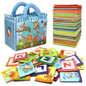 Baby Early Learning Toys Children 26PCS Alphabet Letters Montessori Soft Cards S