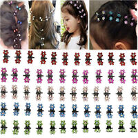12X Crystal Flower Mini Claw Clamp Hair Clip Hair Pin Barrette Hair Accessories